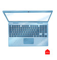 top view laptop computer vector image