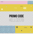 trendy geometric templates for social media post vector image