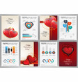 valentines day backgrounds with infographics vector image vector image