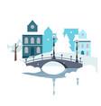 winter urban landscape flat design vector image