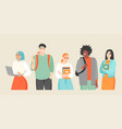 young people different nationalities vector image