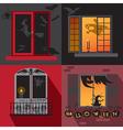 Halloween holiday Windows vector image