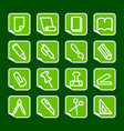 stationery and office icons vector image