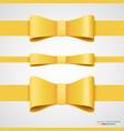 holiday golden ribbon and bow vector image