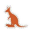 kangaroo australia pet animal dot line vector image