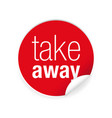 take away label tag sign vector image