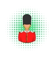 A Royal Guard icon comics style vector image vector image