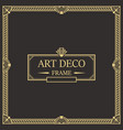 art deco border and frame template vector image vector image