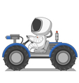 astronaut on the lunar Rover vector image vector image