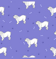awesome seamless pattern with cute dog breed vector image vector image