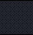 black vintage pattern vector image