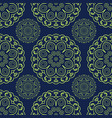 blue and green seamless doodle pattern ethnic vector image vector image
