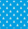 cake pattern seamless blue vector image vector image