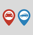 car map pointer icon vector image
