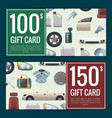 car parts discount or gift voucher vector image vector image