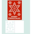 card with snowflake vector image vector image