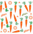 carrot seamless pattern it is located in swatch vector image vector image