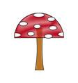 cartoon mushroom educational game for kids vector image