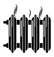 cast-iron battery icon simple style vector image vector image