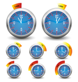 clock - time remaining vector image vector image