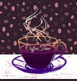 coffeetime ink hand drawn vector image vector image