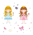 Collection of Pretty Princesses vector image vector image