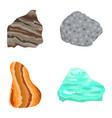 collectionof semi precious gemstones stones vector image vector image