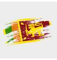color sri-lanka national flag grunge style eps10 vector image