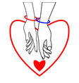 couple of lovers two rings and two hearts vector image