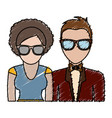 couple with elegant clothes icon vector image vector image