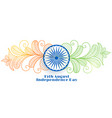 creative indian independence day banner design vector image vector image