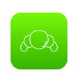 croissant icon green vector image vector image