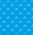 crossed japanese daggers pattern seamless blue vector image vector image