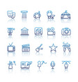 culture and creative fine art line icons set vector image vector image