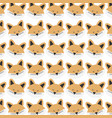 cute fox woodland pattern background vector image
