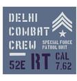 delhi military plate design vector image vector image