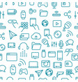 different tech icons seamless pattern vector image