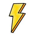 doodle nice light thunder art design vector image vector image