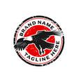 eagle stamp logo design template vector image vector image