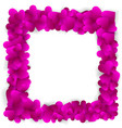 elegant frame made of cute pink paper hearts vector image