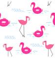 flamingo pattern background vector image vector image