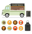 food van vector image