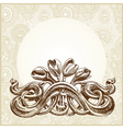 frame ornate card announcement vector image