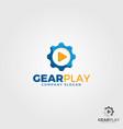 gear play logo template vector image vector image