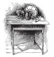 george washingtons breakfast table vintage vector image vector image