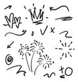hand drawn collection design element doodle vector image vector image