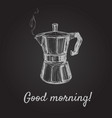 hand drawn sketch coffee maker vector image vector image