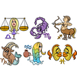horoscope zodiac signs set vector image vector image