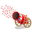 ircus cannon with confetti vector image