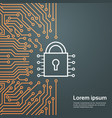 lock network data protection system concept banner vector image vector image